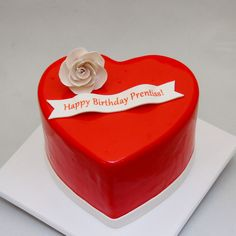 3D Heart Birthday Cake