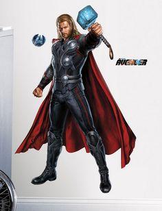 Baseado na mitologia nórdica, Thor é filho de Odin, e foi criado nos anos 60, sendo um dos fundadores dos Vingadores. Dono do Mjölnir, um martelo especial criado por seu pai, é um dos principais heróis da franquia. Será que você é digno de ter um adesivo do papel de parede do personagem em sua parede?? Entre e confira!