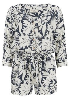 MY SUNDAY MORNING Bahia Shorts Jumpsuit - Palm Bicolore