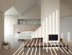♥ white loft bedroom