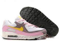 brand new 9a04f 17931 Nike Air Max 90 Womens Pink Yellow White Discount 8fnJb