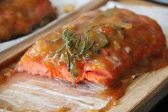 Apricot Jalapeño Glazed Cedar Plank Salmon via Alaska from Scratch