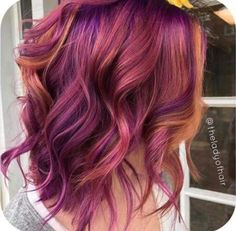 purple with copper highlights