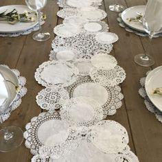Doily Table Runner Wedding