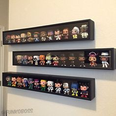 The Best Ways to Display Your Funko Pop Figures – Collective POP Funko Pop Display, Toy Display, Display Shelves, Display Case, Funko Pop Shelves, Nerd Decor, Game Room Decor, We All Mad Here, Geek Room