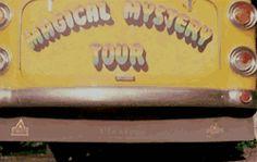 gif gifs music rock hippie the beatles psychedelic trip retro Paul McCartney john lennon ringo starr george harrison beatles 1967 richard starkey magical mystery tour thebeatles psychedelic rock MMT yellow bus