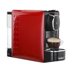VonShef Coffee Pod Machine - For Nespresso Compatible Capsules - - in Stylish Red >>> Read more details by clicking on the image. Pod Coffee Makers, Coffee Pods, Coffee Shop, Nespresso, Wine Decanter Set, Best Food Processor, Home Coffee Machines, Espresso Coffee Machine, Espresso Maker