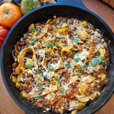 Chopped Enchilada Skillet - THIS is one of the BEST Dinners I've made in a long time - according to the kids!  Serves 6 Ingredients: 2 tsp avocado, or olive oil 1 yellow onion, diced 1 lb ground grass fed beef, or turkey 1 medium yellow squash, chopped 1 medium zucchini, chopped 2 tsp ground cumin 1 tsp... #enchilada