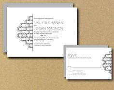 Printable Wedding Invitation  Art Deco by LittlePaperLantern, $30.00