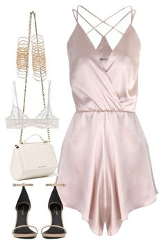 A fashion look from July 2016 featuring Again rompers, La Perla bras and Yves Saint Laurent sandals. Browse and shop related looks. Sexy Outfits, Dressy Outfits, Cute Outfits, Fashion Outfits, Womens Fashion, Fashion Tips, Fashion Trends, Teen Fashion, Fashion Fashion