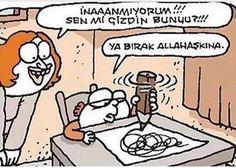 The post Ya bırak allah aşkına. appeared first on Karikatur XL. Cute Cat Gif, Fun Comics, Galaxy Wallpaper, Twitter Sign Up, Lol, Cartoon, Humor, Memes, Funny