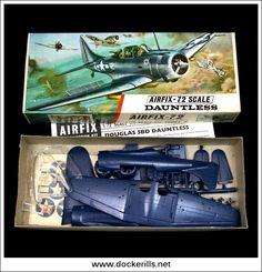 Douglas Dauntless - Vintage Airfix Red Stripe Box Kit. 1/72 Scale. Photo in DOCKERILLS - VINTAGE AIRFIX REFERENCE - Google Photos