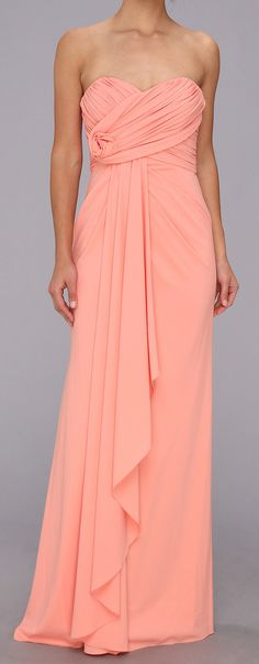 Coral Gown - cute bridesmaid dress