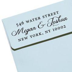 "CUSTOM ADDRESS STAMP - Eco Friendly & self inking, gifts for wedding, housewarming, etsy labels, return address stamp  ""Calligraphy 47"". $27.95, via Etsy."
