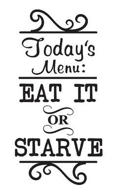 Primitive Kitchen STENCIL Today's Menu Eat It or by OaklandStencil, $19.95