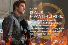 I'm Gale Hawthorne! Which 'Hunger Games: Mockingjay' character are you? #Mockingjay #ZimbioQuiz
