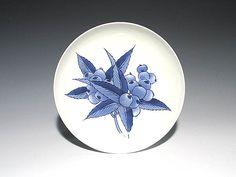 古平戸:染付ビワの図五寸皿