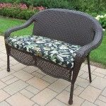 Oakland Living - Elite Resin Wicker and Metal Garden Bench - 90092-L-CF-CUBF  SPECIAL PRICE: $398.00