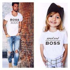 père-et-fille-tenue-papa-et-bebe-tee-shirt-look-pere-fille-assorti-vetement-famille
