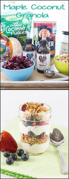 Homemade granola is perfect as a parfait w/yogurt or served in a bowl w/milk. www.joyineveryseason.com