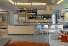 Cocina abierta con comedor integrado!