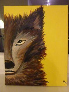 Brown wolf