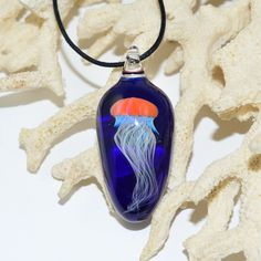 Glass Jellyfish Necklace www.ldglassworks.com
