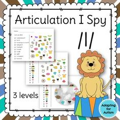 This no prep packet includes three levels of /l/ I Spy games for a unique way to focus on articulation goals. Have fun searching for the pictures while practicing the /l/ sound in the initial, medial and final positions.Perfect for warm-ups, icebreakers, homework, group lessons, last minute planning and carryover.Three levels:1) for students who can read the items they need to find2) for students who can match identical pictures and need a visual key3) for students who can match identical…