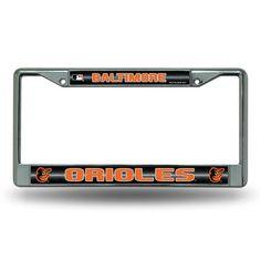 Baltimore Orioles Bling Glitter Chrome License Plate Frame #BaltimoreOrioles