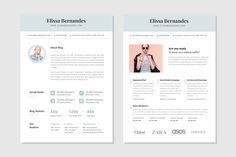Blog Media Kit Template - 2 Page by Elissa Bernandes on @creativemarket