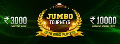 Win Rs.10,000 on weekends and rs.3000 on weekdays only at classic rummy @ 1pm daily.  Hurry... Book your seat now....  https://www.classicrummy.com/rummy-games/rummy-jumbo-tournaments?link_name=CR-12