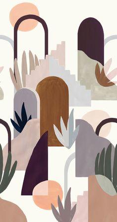 Abstract Geometric Art, Abstract Line Art, Art And Illustration, Art Abstrait Ligne, Walpapers Iphone, Minimal Art, Art Minimaliste, Small Canvas Art, Graphic Wallpaper