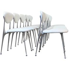 Set of Ten Shelby Williams Aluminum Gazelle Chairs. I've always hearted this chair