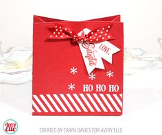 Hi there! Today I'm over on the Avery Elle blog sharing a fun little Christmas project I created using the Naughty or Nice stamp set and the Classic Bag Elle-Ments die. I love this gift bag die -...