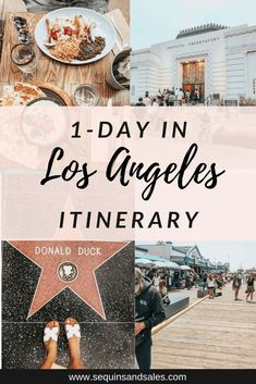 Only have one day planned to travel around Los Angeles? Well here is my On Day in Los Angeles Itinerary! From places to eat, to things you must see, this post has it all! Los Angeles Trip, Los Angeles Travel, Los Angeles California, Disneyland Los Angeles, Visit Los Angeles, Los Angeles Food, Los Angeles Shopping, Downtown Los Angeles, Hollywood Sign