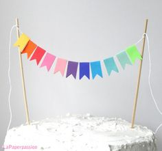 Cake-Bunting-Paper-Garland-Rainbow-flags-By-La-Paper-Passion