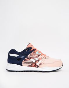 Image 2 - Reebok Ventilator Graphics Coral Print Trainers