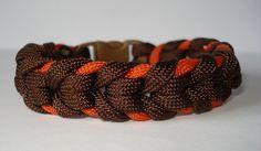 Oak Spike Sinnet in Two Tone Paracord Bracelet by RaggityBaggity, $13.99