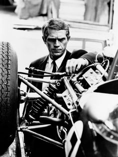 "Always and forever an icon - ""Racing is life. Anything before or after is just waiting"" - Steve McQueen Steven Mcqueen, Classic Hollywood, Old Hollywood, Hollywood Glamour, Photo Star, Cinema Tv, Scarlett O'hara, Suit And Tie, Famous Faces"