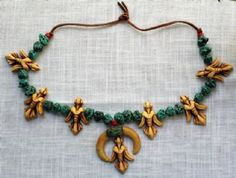 Dogbotz Boneyard Online Resale of Antiques & Collectibles: Vintage Native American Vulture Necklace