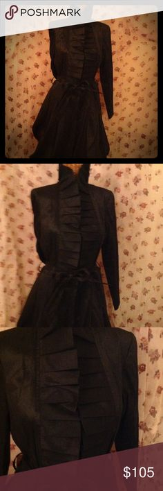 👗NWOT Ladies Bubble Dress👗 Perfect condition bubble dress. Ties in the front and buttons up. High ruffle collar. 63% polyester 33% nylon 4% elasthane . Will provide measurements at your request. I will post better pics tomorrow. Frank Lyman Jackets & Coats