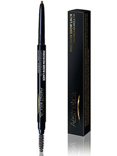 Aesthetica Precision Brow Liner - Double Ended Eyebrow Pencil / Spoolie Brush - Smudge Proof Formula - Vegan & Cruelty Free (Auburn)