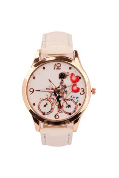 Artificial Leather, Quartz, Bicycle, Belt, Watches, Lady, Womens Fashion, Accessories, Belts