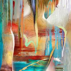 Abstract Nude Art • Figure Painting Reproduction • Spectral Figure #2 • Contemporary Nude Fine Art Print