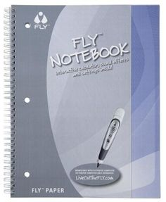 FLY™ Paper Notebook Large (8.5 x 11) by LeapFrog. $14.99. This accessory works only with the FLY 1.0 Pentop Computer, and is not compatible with FLY Fusion Pentop Computer. Pre-printed menu on the inside front cover lets you easily access many features of the FLY Pentop Computer. 4 Cover colors (orange, yellow, green and blue). 8.5-by-11-inch spiral bound notebook for use with the FLY Pentop Computer, sold separately. 3-Hole punched - 60 Pages. From the Manufacturer       ...