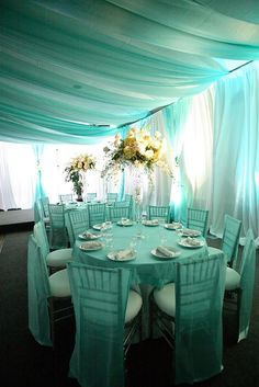 Tiffany blue is going to be one of our wedding colors! Tiffany Blue Weddings, Tiffany Theme, Tiffany Party, Tiffany Wedding, Tiffany Room, Green Weddings, Indian Weddings, Romantic Weddings, Wedding Mint