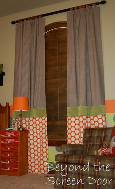 Semi-Tutorial for Mixing Details on Window Treatments | Beyond the Screen Door