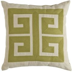 """Accent pillows (4) color:  Moss     17""""W x 17""""H     Polyester     Fabric treated for UV protection     Spot clean only     For indoor/outdoor use"""