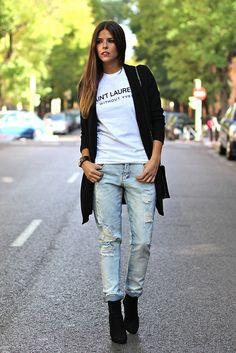 trendy_taste-look-outfit-street_style-AW13-blazer_negra-black_blazer-ysl-white_tee-camiseta_blanca-hoss_intropia-black_booties-botines_negros-leo_print-boyfriend_jeans-vaqueros_boyfriend-polaroid-13 by Trendy Taste, via Flickr