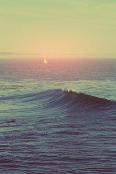 hazy ocean waves   #smoothestdayever